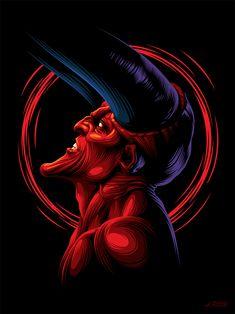 Legend – Poster by Aleksey Rico on Inspirationde Fantasy Demon, Demon Art, Dark Fantasy Art, Horror Drawing, Horror Art, Beautiful Dark Art, Phone Wallpaper Images, Wallpapers, Satanic Art