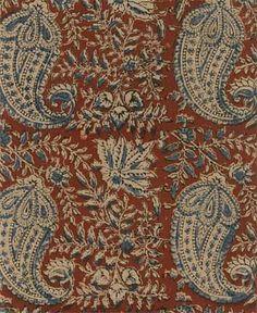 Reproduction Fabrics - turn of the century, > fabric line: Kalam Kari Batik Pattern, Paisley Pattern, Paisley Print, Textile Patterns, Print Patterns, Floral Texture, Line Texture, Homemade Home Decor, Rug Company