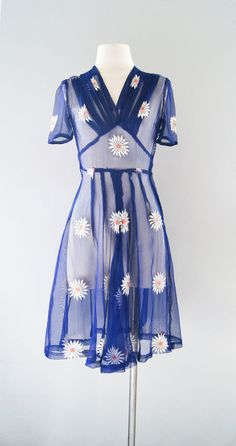 1940s sheer dress: Very then; Very Now.