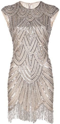 naeem khan silk georgette dress with metallic beading - Google Search
