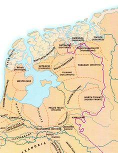 kaart van het Frankische rijk rond 800, uit de Atlas van de Nederlandse Geschiedenis