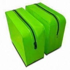 #Eco-friendly Green Plastic PVC Cosmetic Bags