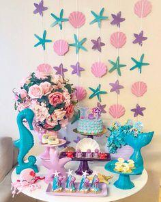 Mermaid Birthday Party Decorations Diy, Mermaid Birthday Cakes, Little Mermaid Birthday, Little Mermaid Parties, Girl Birthday Themes, The Little Mermaid, Birthday Parties, Woman Costumes, Couple Costumes