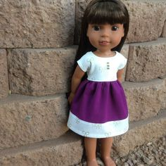 Holiday Season handmade dress scaled for wellie wishers or similar sized dolls...ThePersnicketiePixie on Etsy ;)