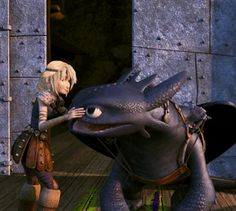 Aww I liked this part < Me too. Astrid and Toothless. :)