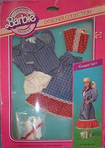 NRFB, 1982 Designer Collection Country Girl Barbie doll Outfit, Vintage 80 s Vintage Barbie Clothes, Doll Clothes Barbie, Barbie Dress, Vintage Dolls, Girl Barbie, Barbie Outfits, Barbie Style, Doll Dresses, 1980s Barbie