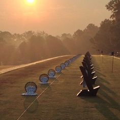 Early day at the range