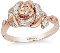 Enchanted Disney Belle 1/10 CT. T.W. Diamond Rose Ring in 10K Rose Gold  Great for Disney Beauty & the Beast-Belle lovers... http://shopstyle.it/l/zza0 #Disney #Beauty #Beast #ad #affiliate #Beauty&theBeast #Emma #Watson #EmmaWatson #ring #rose #rosegold #stunning #musthave #collect #collection #collecting #jewels #jewelry #jewelrybox #Zales #fashion #diva #gorgeous #style #stylish