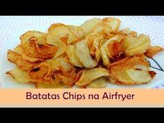 Batata Chips na AirFryer (Fritadeira sem Óleo) - Sabor no Prato