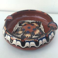 Vintage Southwestern Style Ceramic Ashtray by asburyparkvintage