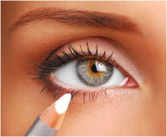 Use a white eyeliner on your waterline to make your eyes appear bigger! Gonna try this!
