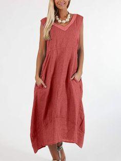 Plus Size Casual V Neck Pockets Striped Dresses Yellow Midi Dress, Striped Dress, Dress Red, Dress Black, Fall Dresses, Casual Dresses, Summer Dresses, Vintage Midi Dresses, Dress Vestidos