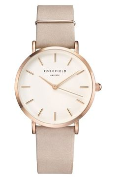 Rosefield West Village Leather Strap Watch bfda17c2865