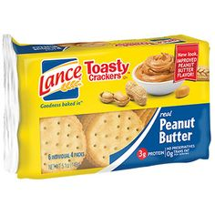 Rich 'n' creamy peanut butter meets a crisp buttery cracker! Make great snacks for lunches, break rooms, or charity events. Each pack contains 4 crackers. Cracker Brands, Peanut Butter Crackers, Ham Breakfast, Oyster Crackers, No Bake Snacks, School Snacks, New Flavour, Snack Recipes, Cheesecake Mix