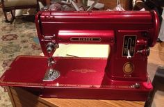 Vintage Singer 301 with a great facelift in Red!!