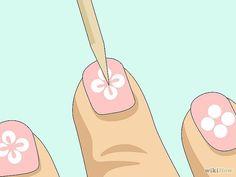 Simple Nail Art with a toothpick for beginners: 6 steps - Diy Nail Designs Toe Nail Art, Nail Art Diy, Easy Nail Art, Diy Nails, Cute Nails, Acrylic Nails, Simple Nail Art Designs, Best Nail Art Designs, Glitter Nail Paint