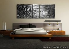 Modern New Metal Wall #Art Abstract #Bedroom Decor