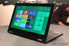 Lenovo Yoga - a Windows 8 Laptop that folds into a tablet. Coming later this year for around $1,000.