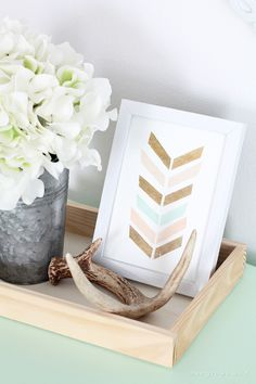 Ideas for simple shabby-chic decor at LoveGrowsWild.com