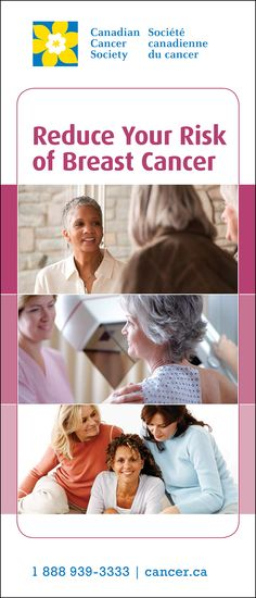 Reduce Your Risk of Breast Cancer The information in this brochure can help you understand more about #breastcancer and what you can do to reduce your risk of this disease.