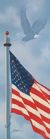 Spirit of America-Bald Eagle & Flag by Scot Storm|WildWings