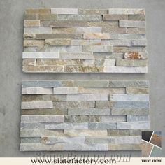 Stacked Stone Veneer, Gold Yellow Quartzite Stacked Stone - Trust Stone Factory