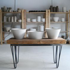 Bowls drying in the studio by Jono Smart