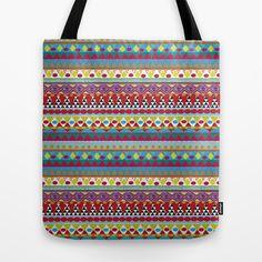 NATIVE MIND DREAM Tote Bag by Nika  - $22.00  #boho #bohemian #totebag #tribal #native #pattern #abstract #triangles #society6 #totebag #tote #bag #nika #colorful #modern #hippie #indie #chic