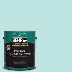 BEHR Premium Plus 1-gal. #490A-2 Cool Jazz Semi-Gloss Enamel Exterior Paint 505001 at The Home Depot - Mobile