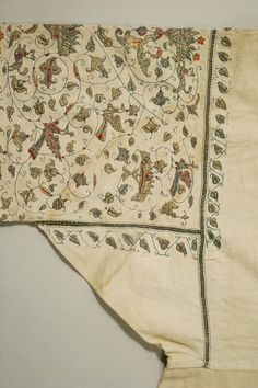 Undershirt Date: 16th century Culture: Italian Medium: linen, silk and metal thread Dimensions: Length at CB: 53 in. (134.6 cm)