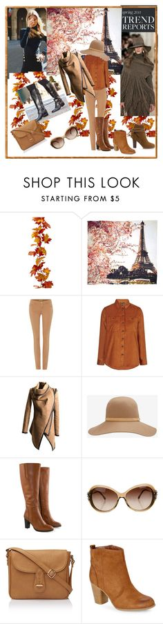 """golden autumn"" by berbicazemina ❤ liked on Polyvore featuring Mercedes-Benz, Fay et Fille, Versace, Topshop, rag & bone, Jilsen Quality Boots, Chanel and Madden Girl"