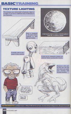 Scan from Wizard Magazine 147. Basic Training: Part 5 of 6 Joe Kubert shows how to do lighting. p122