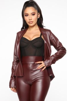 Real Dom Chick Pant Set - Burgundy Source by fashion nova outfits Sexy Outfits, Cute Outfits, Fashion Outfits, Womens Fashion, Party Fashion, Burgundy Fashion, Leder Outfits, European Fashion, Leather Fashion