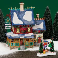 56 North Pole Series Northwind Knitters by Department 56 Christmas Town, Christmas Villages, Kids Christmas, Disney Christmas, Madagascar Dragon Tree, Department 56 Christmas Village, Santa's Village, Christmas Tree Earrings, Glitter Houses