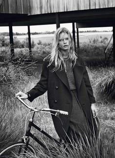 Vogue Paris October 2013: Hamptons Model: Anna Ewers Photographer: Josh Olins Fashion Editor: Geraldine Saglio Hair Stylist: Shon Makeup