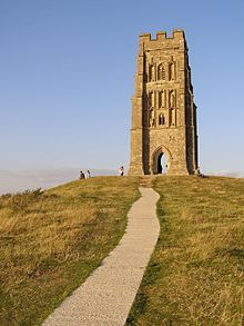 Glastonbury Tor in Glastonbury England is where the Michael & Mary ley lines cross in England...mega power spot!  Also the home of the mythical/magical city of Avalon!