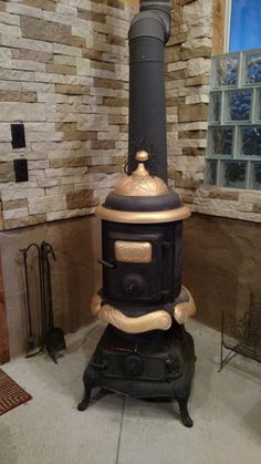Ideal No.16 Pot Belly Parlor Wood Burning Stove #IdealNo16