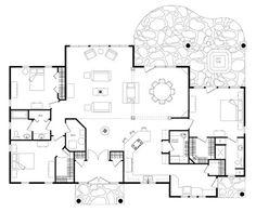 Wisconsin Log Home:  Claremont floorplan with 2398 sf.  Nice open floor plan one level.