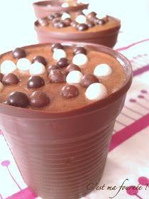C'est ma fournée ! : Mousse au chocolat Michalak et son gobelet tout choco...