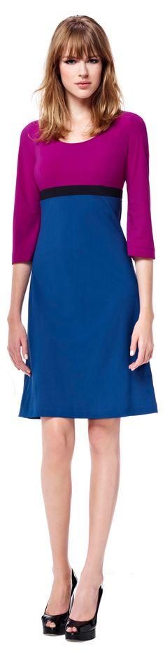 Cyclaam en blauw Coco Chanel, Glamour Beauty, Collor, Cobalt, Mauve, Dresses Online, Lotus, Royal Blue, Peplum Dress