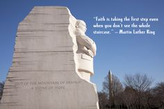 """""""Faith is taking the first step even when you don't see the whole staircase."""" – Martin Luther King Jr. #talkofalifetime"""