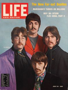 July 24, 1967 | LIFE - Asia Edition | The New Far-Out Beatles | Photo shoot for LIFE at Abbey Road Studios
