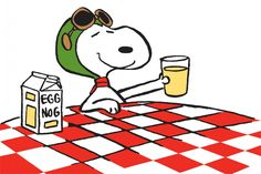 Snoopy Ace Drink Peanuts Canvas Art – Charlie Brown Art