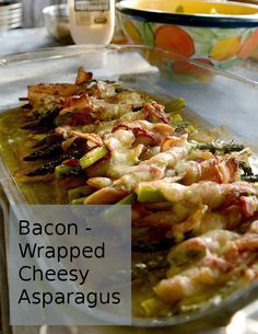 Hellooo! Bacon Wrapped, Cheesy Asparagus. Gluten free, bacon asparagus, low carb, ketogenic diet