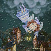 Купить или заказать Апрель в интернет-магазине на Ярмарке Мастеров. Авторская коллекция картин художника Владимира Щепина «12 месяцев»,выполнена в технике «One Stroke» – это удивительно изящная, очень декоративная техника.Оформление работы в раму за дополнительную оплату.