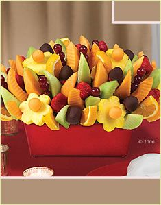 """This is the """"Bereavement Bouquet"""" from Edible Arrangements. ewww"""