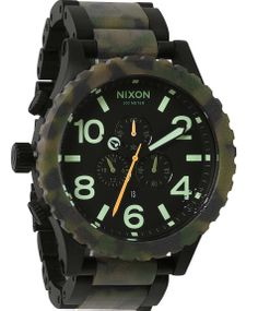 NIXON 51-30 Chronograph Κhaki and Black Stainless Steel Bracelet Μοντέλο: A083.1428 Η τιμή μας: 475€ http://www.oroloi.gr/product_info.php?products_id=37329