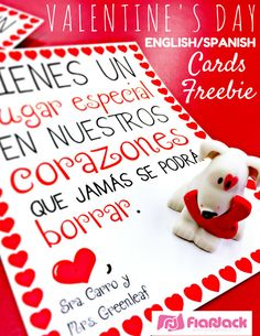Schön Valentine Cards In Spanish And English (FlapJack)