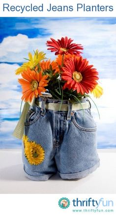 Planters | 18 Things You Probably Shouldn't Make Out Of Jeans