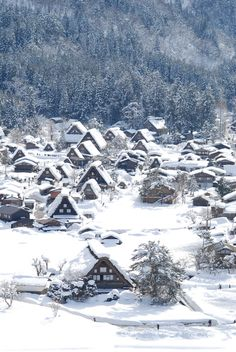 Winter in Shirakawa-go, World Heritage, Japan Traditional Folk Houses, Gifu, Japan 白川郷 Winter Szenen, Winter Magic, Norway Winter, Winter Blue, Places Around The World, Around The Worlds, Winter Beauty, Wonders Of The World, Beautiful Places